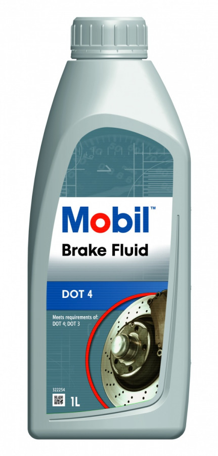 Mobil Brake Fluid DOT 4     1L, артикул Mobil 150904R