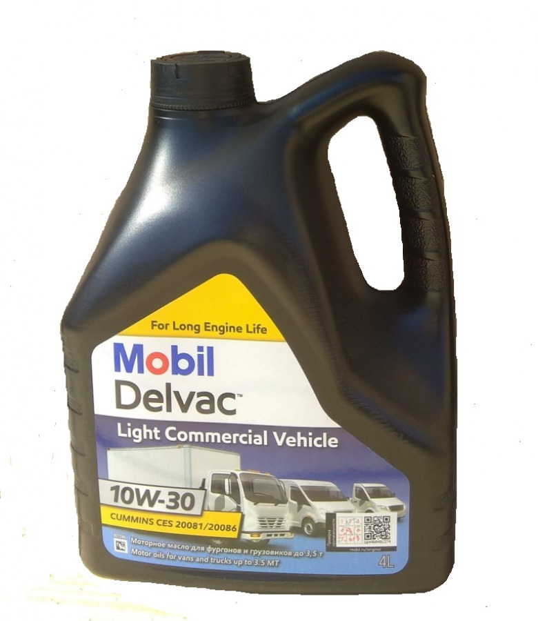 Mobil Delvac Light Commercial Vehicle 10W-30 4L, артикул Mobil 154620