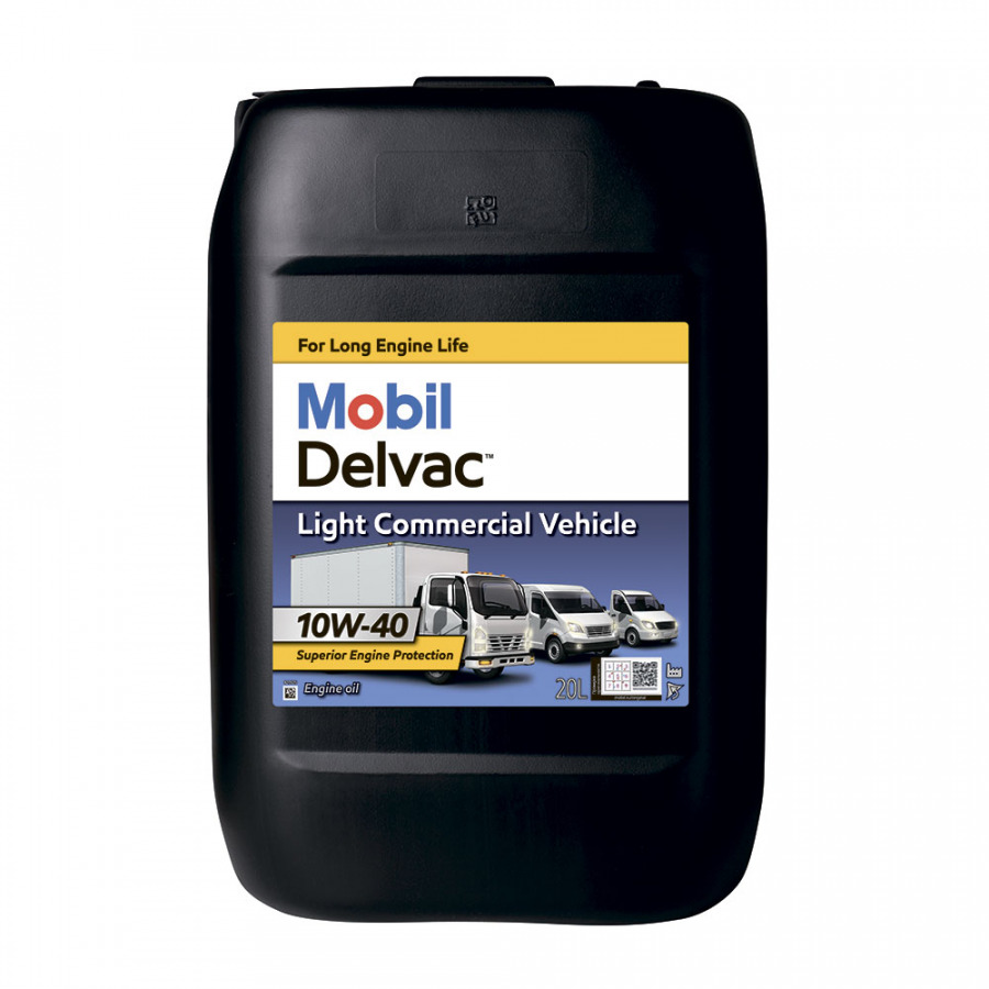 Mobil Delvac Light Commercial Vehicle 10W-40 20L, артикул Mobil 154540